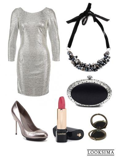 Новый год #вечер #свидание #ресторан #клуб #блеск #серебряный #серый #чёрный #аксессуары #клатч
