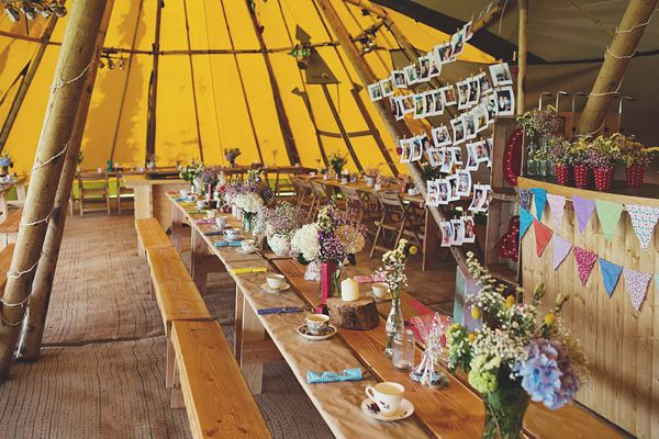 Tipis and A Bell Tent Village For A Polka Dot, Colourful and Candy Anthony Style Glamping Wedding