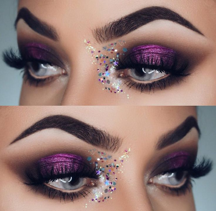 @dianamaria_mua Glitter Eye Look using BH Cosmetics Marble Collection Cool Stone Palette