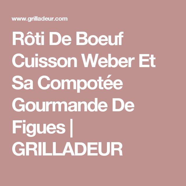 Rôti De Boeuf Cuisson Weber Et Sa Compotée Gourmande De Figues   GRILLADEUR