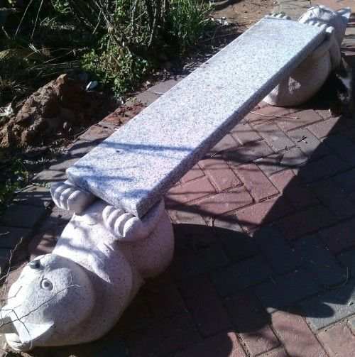 Buy Stunning, Solid Granite Garden Bench. L 115 cm x H 36 cm x W 28 cm for…