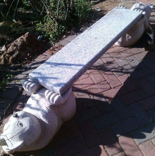 Buy Stunning, Solid Granite Garden Bench. L 115 cm x H 36 cm x W 28 cmfor…