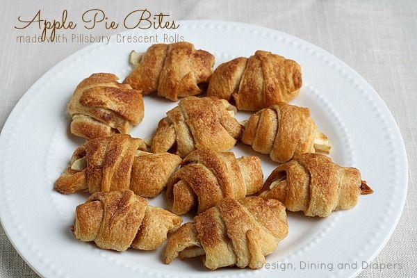 Apple Pie Bites made with Pillsbury Crescent Rolls