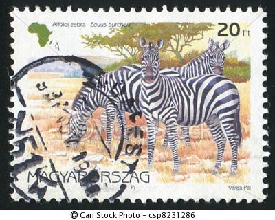 vintage safari stamp