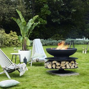 Ring Of Logs Steel Firepit - fire pits & outdoor heating