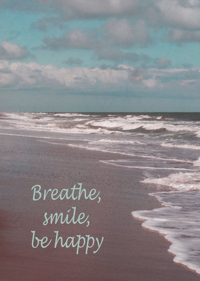 Virginia Beach photo be happy quote print ocean by PhotographySpa, $15.00