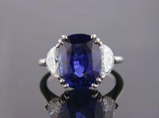 That's my girl. 8.51ct Ceylon Saphire Ring