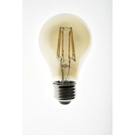 Lighting Science 40W Equivalent A19 Filament Amber LED Light Bulb
