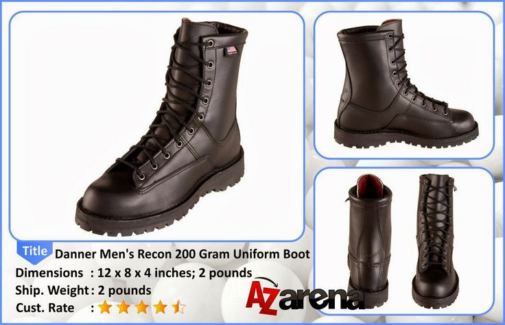 """Danner Men's Recon 200 Gram Uniform Boot   These 69410 Danner Men's Recon GTX Military Boots are USA-made Reconâ""""¢ that is tough and traditional in appearance, and comfortable in appl..."""