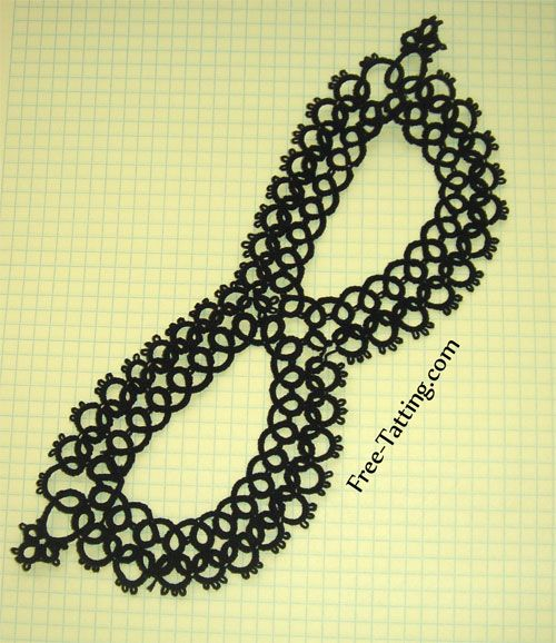Black Tatted Mask, Great free tatting patterns website. Don't know if I'll ever need a tatted mask, but pinning just in case.
