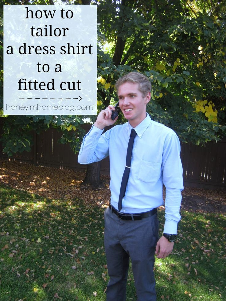 How To Tailor A Men 39 S Dress Shirt To A Slim Fit Dress