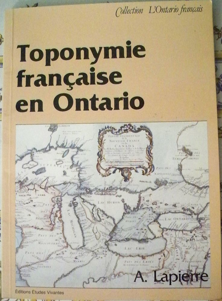 Toponymie française en Ontario