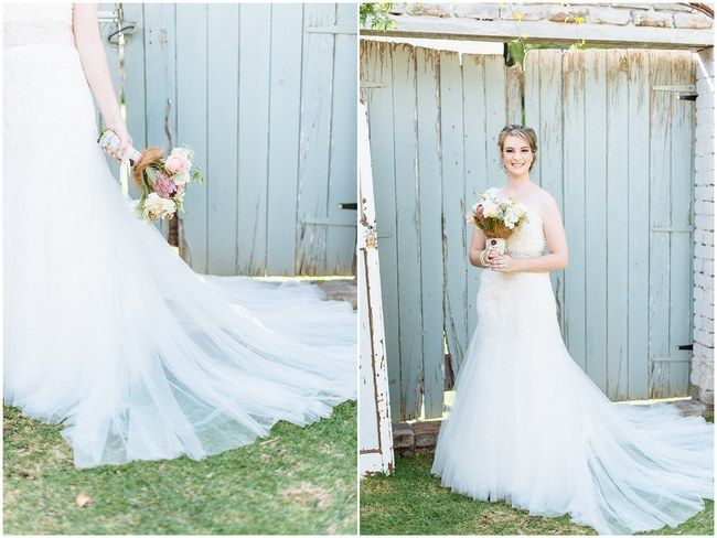 :: Pretty paper Flower, Rustic Blush Farm Wedding :: South Africa :: Louise Vorster Photography :: Seen on ConfettiDaydreams.com