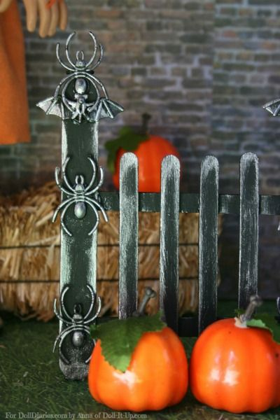 Doll Craft- Make A Doll Size Halloween Fence