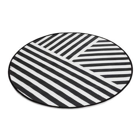 Outdoor Rug - Round, Stripe | Kmart