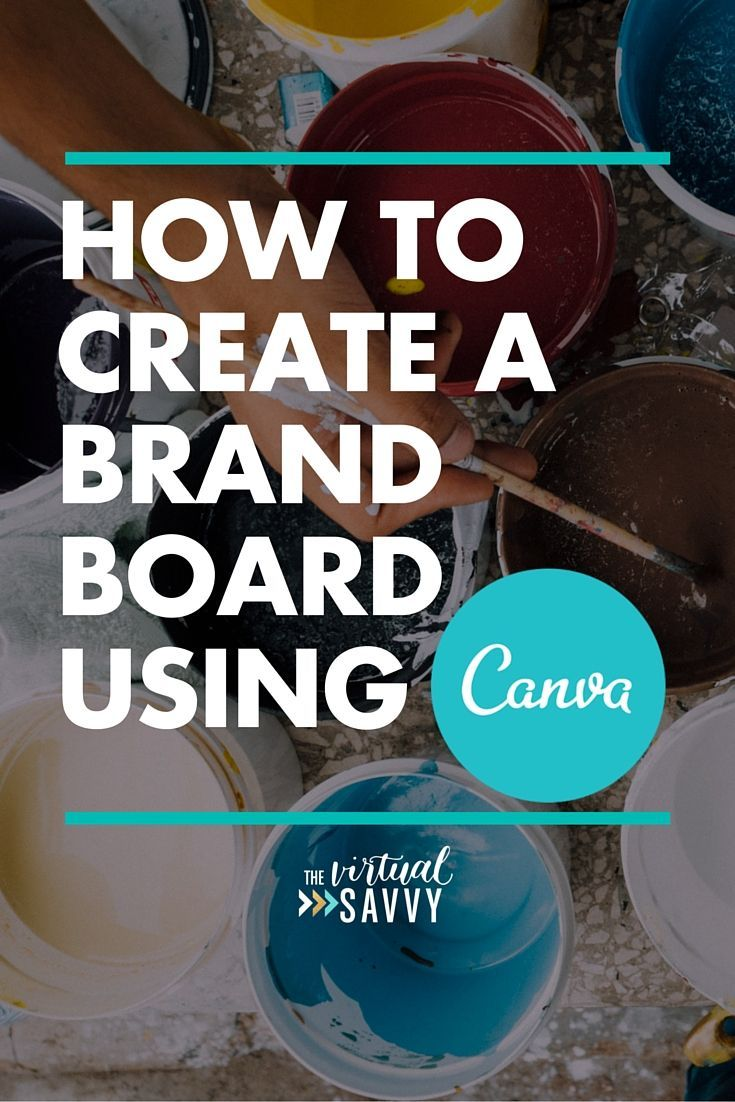 HOW TO CREATE A BRAND BOARD USING CANVA