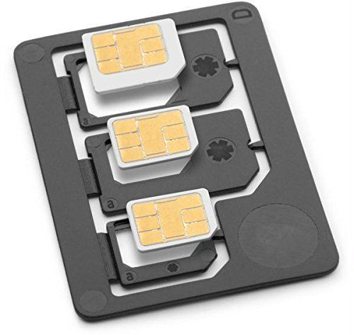 Saapni Premium Quality Three Adapter Pack SIM Adapter - NANO TO MICRO, NANO TO F