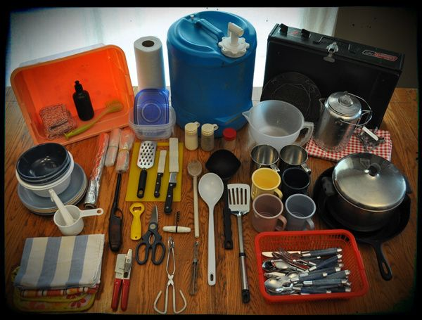 how to pack the perfect camping kitchen supply list 600x455 Camp Supplies