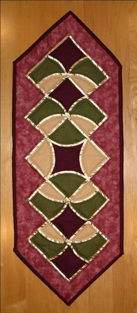 Easy Table Runner Patterns | Downloadable Table Runner Pattern - Sleeping Bear Crafts - Patchwork ...