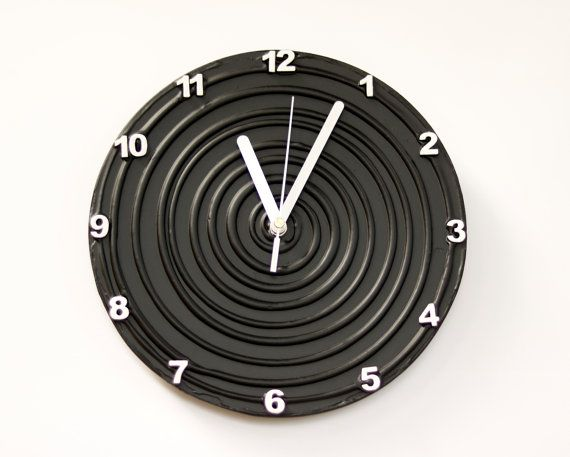 #black #white #decoration $interior Black Clock Black WALL CLOCK Unique wall clock modern Black