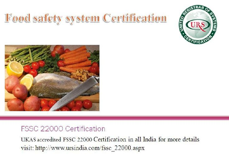 Food safety system certification  FSSC 22000 Certification in all india.