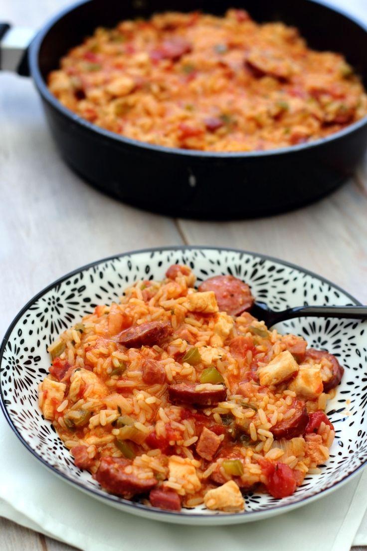 Jambalaya (riz aux légumes et viandes)