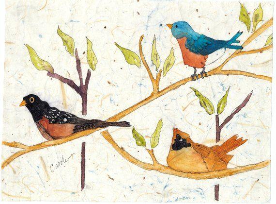 Watercolor Batik Watercolor Painting Watercolor Paintings Bird