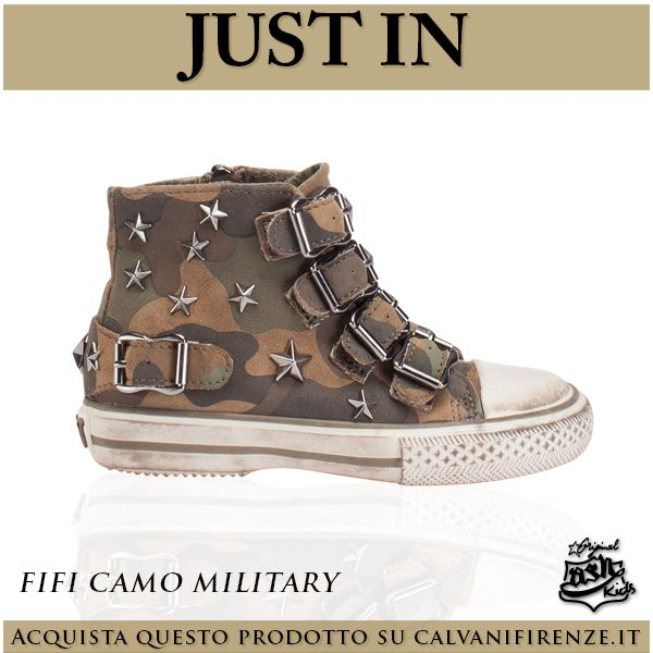 Il Just In di oggi è dedicato allo stile militare per bambini fashion! Scegli le #sneakers di Ash camouflage Fifi Camo Military!