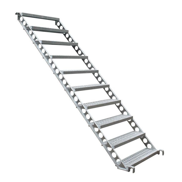 Elegant Bautreppe aus Stahl x m f FL