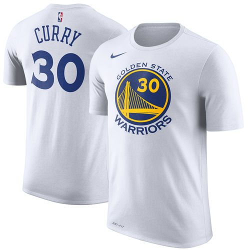 Men's Golden State Warriors Stephen Curry Nike Gray Name & Number Statement Performance T-Shirt
