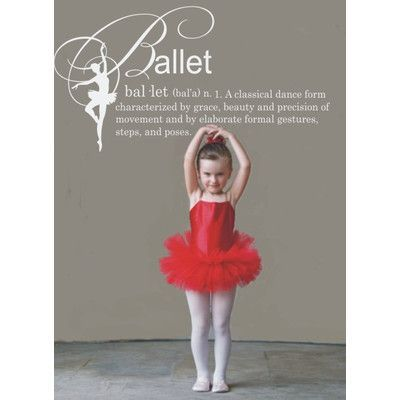 "Alphabet Garden Designs Ballet Definition Wall Decal Size: 22"" H, Color: Brilliant Blue"