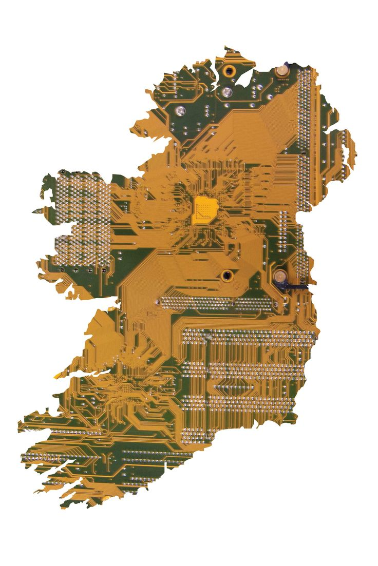 Photo composite by Ellen Egan from NCAD depicting Ireland and its technology capability