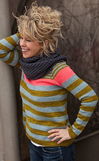 Words cannot describe how much I adore this sweater pattern from The Plucky Knitter, also knit in her yarn.