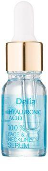 Delia Cosmetics 100% Serum Hyaluronic Acid intenzivní vyplňující a protivráskové sérum s kyselinou hyaluronovou na obličej, krk a dekolt | notino.cz