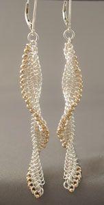 Metalwerx: Chain Maille Earrings: European 4-in-1 Beaded Micromaille Twist Workshop