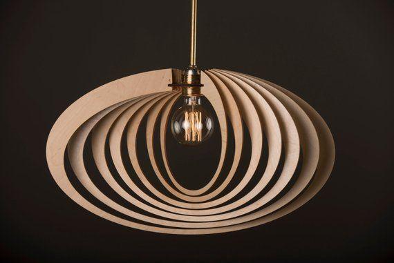Elliptic Orbit Wood Lamp Wooden Lamp Shade Hanging Lamp Pendant Light Decorative Ceiling Lamp Modern Lamp Wooden Lamp Lamps Living Room Wooden Lampshade