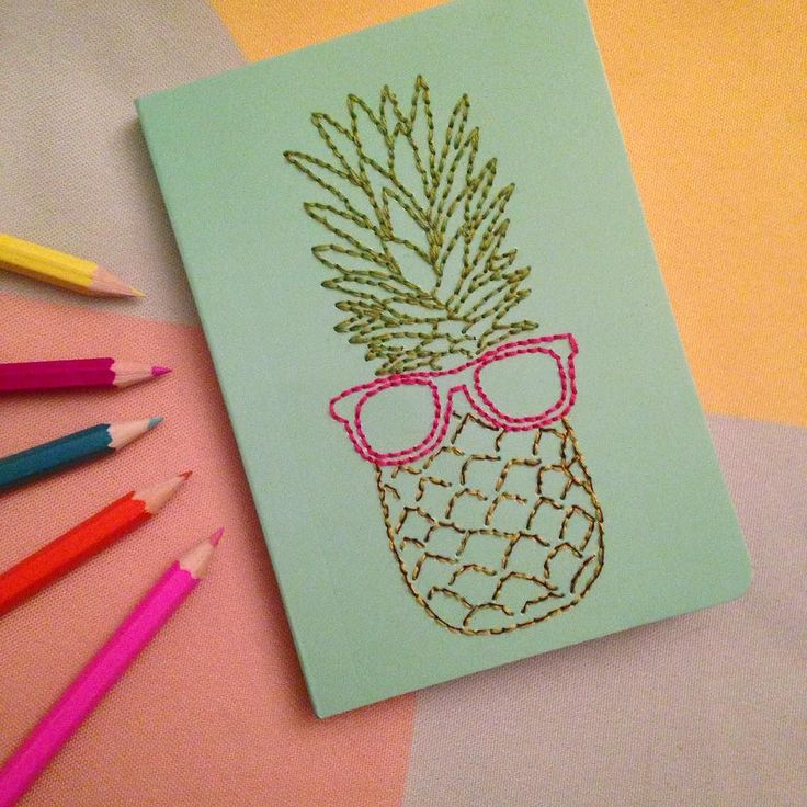 "'""Hey baby...if you were a fruit you'd be a FINEapple"" we're LOVING this month's #drinkthismakethat project can't wait to share it with you all on Wednesday! #craftnight #cocktails #happy #pineapple #makeitsewcial #stationery #sewing #craftiscoming"