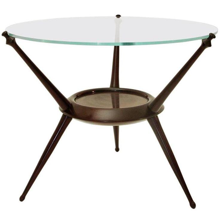 Italian Mid-Century Cesare Lacca Round Sofa Table, 1948 1