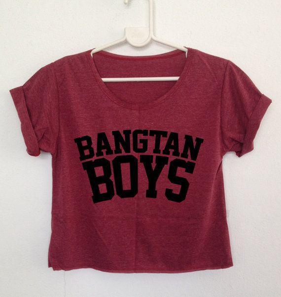 Bangtan Boys CROP SHIRT womens BTS k-pop rap by rainbowtshirt