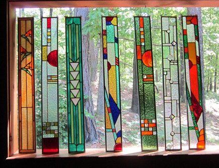 Stained glass panel a beautful addition to one's HOME, GARDEN, or WINDOW treatment..... $65.00, via Etsy.