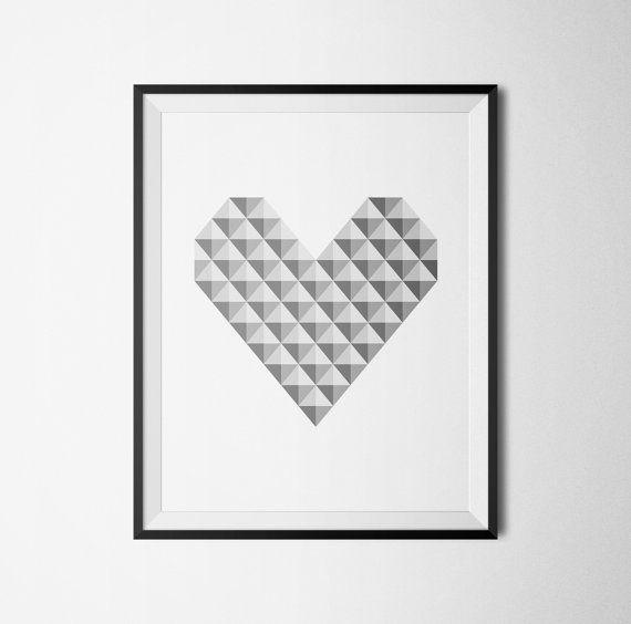 Scandinavian print scandinavian design by HomeDecorDrawing on Etsy