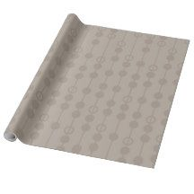 Gray With Circles Patterns Gift Wrap Paper