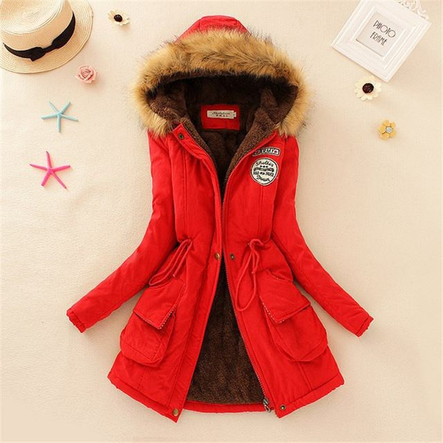 Winter women coat Women's Parka Casual Outwear Military Hooded fur Coat Down Jackets Winter Coat for Female CC001 Great, huh? Visit us
