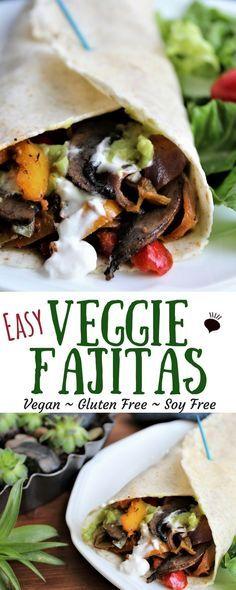 Easy Veggie Fajitas Vegan Gluten Free Vegetarian Meals