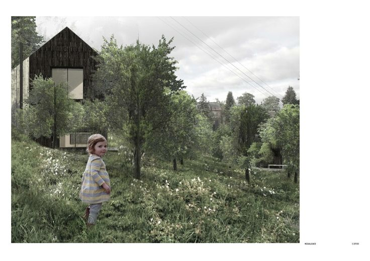 Community center in the mountains - Tereza Scheibová
