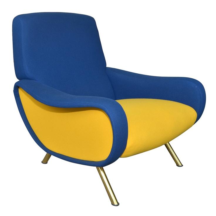 """1950s Italian  """"Lady"""" Armchair by Marco Zanuso"""
