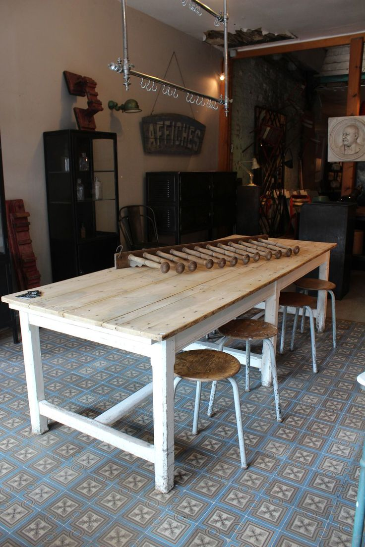 Mobilier Industriel   Large Work Table