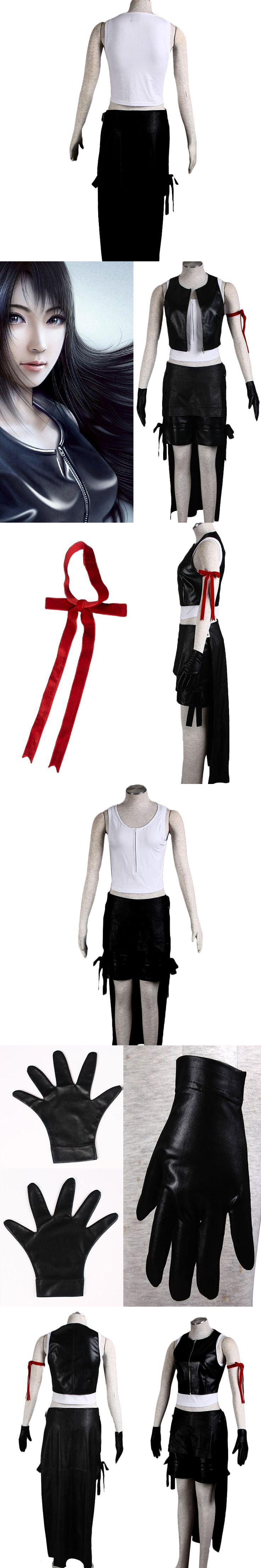 Anime Final Fantasy VII New 1 Tifa Lockhart Women's Performance 6 Sets Cosplay Costumes Tifa Clothes Full Set Halloween Clothing