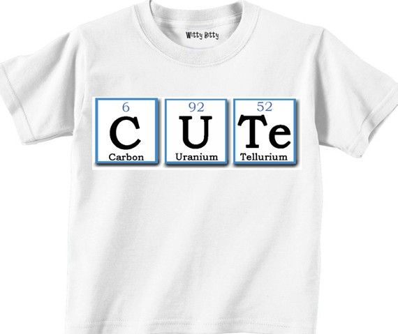 CUTE  PERIODIC TABLE  Carbon  uranium  tellurium  by WittyBitty