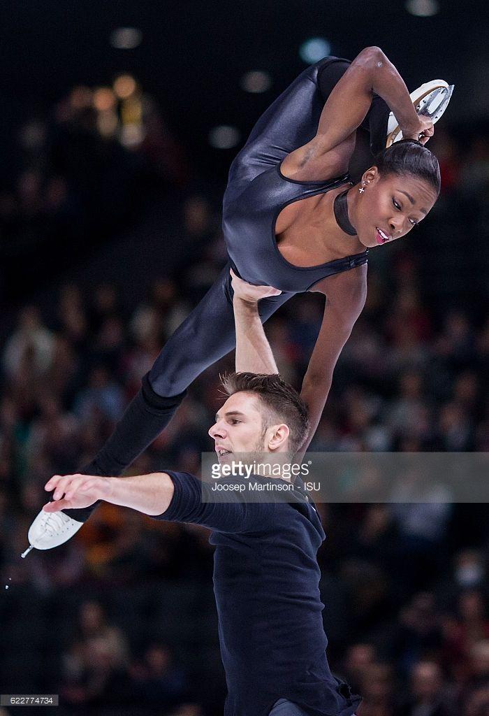 Vanessa James and Morgan Cipres of France compete...